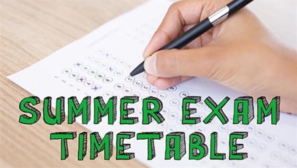 Summer Assessments 2020