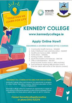 Kennedy College - PLC - APPLY NOW!!