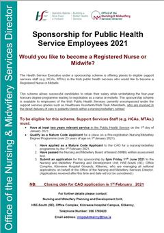 Would you like to become a Registered Nurse or Midwife?